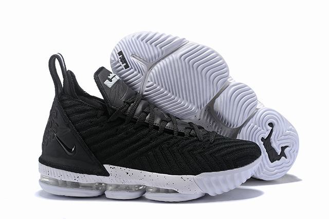 Nike Lebron James 16 Air Cushion Shoes Black White Black